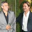 George Clooney y Brad Pitt son dos de los 'maduros' m&#xE1;s deseados - Bien har&#xED;a Keanu Reeves en intentar parecerse a ellos si quiere olvidar cualquier tipo de crisis