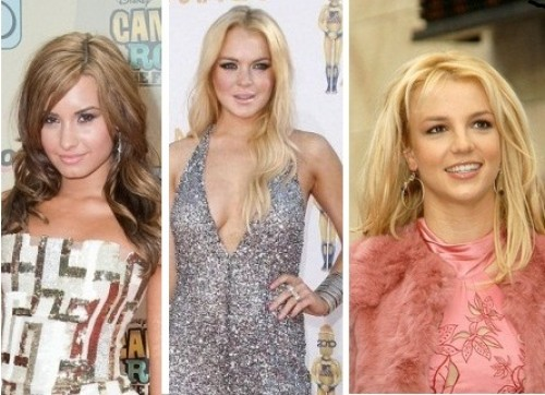 Britney Spears, Demi Lovato, Lindsay Lohan, Ashley Tisdale - Las chicas Disney: Demi Lovato, Lindsay Lohan y Britney Spears.