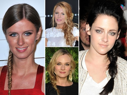 Blake Lively, Nicky Hilton, Kristen Stewart, Diane Kruger - Las estrellas se han apuntado a la tendencia de las trenzas de lado.